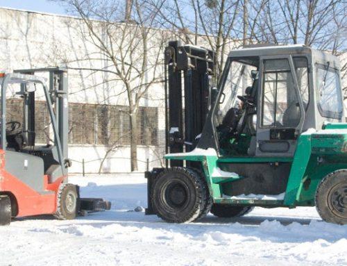 Підготовка навантажувача до зими.